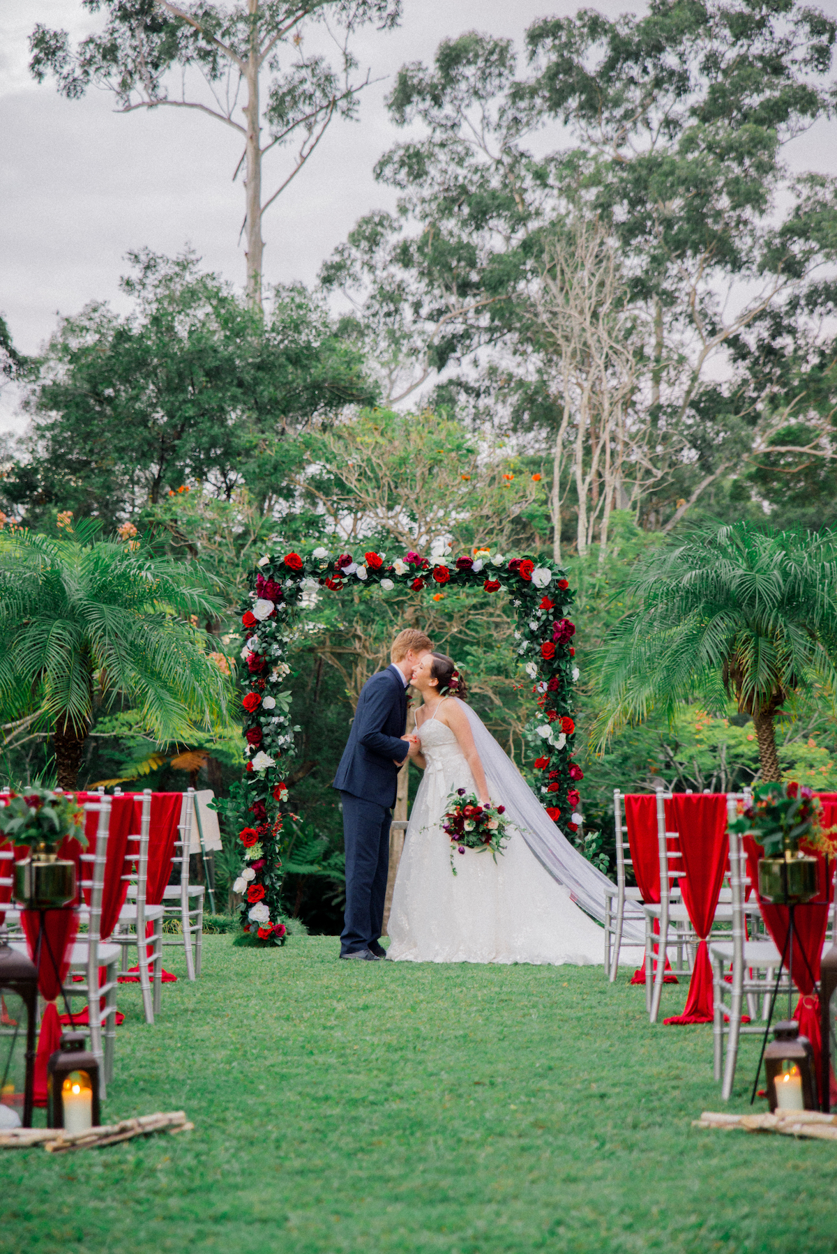 Gold Coast Winter Wedding Hinterland Wedding Venue Ceremony