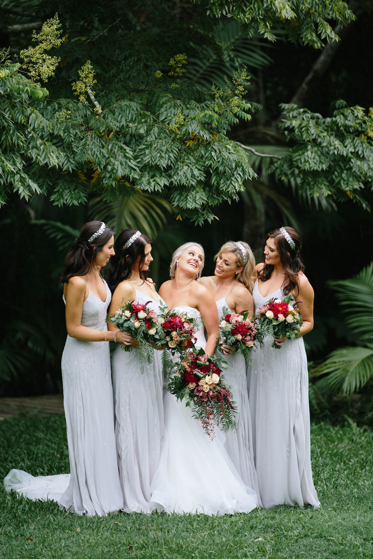 Gold Coast Winter Wedding Hinterland Wedding Venue Bridal Party